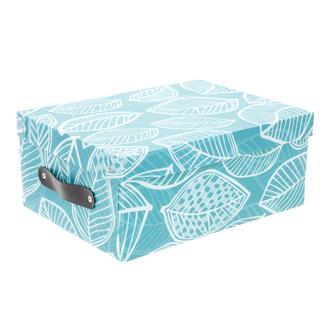 Simple Living Yaprak Tasarımlı Saklama Kutusu - Mavi