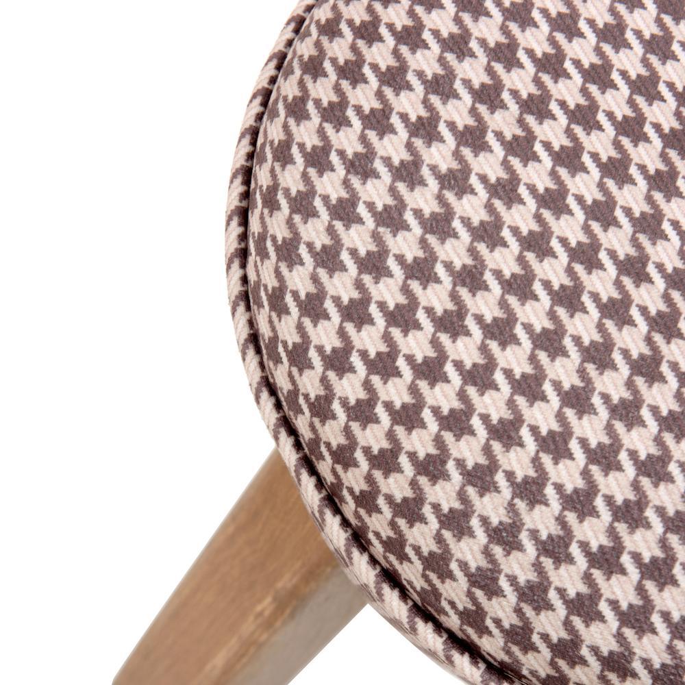 Just Home Retro Mantar Puf - Kahverengi Kazayağı