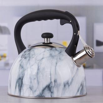 Heifer Gourmet Mermer Desen Düdüklü Çelik Çaydanlık