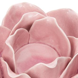 Q-Art Seramik Çiçek Mumluk - Somon