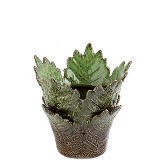Sembol Dekoratif Yaprak Vazo