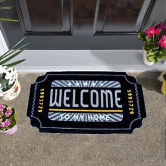 Giz Home İtalyan Kokardo Kapı Önü Paspası Welcome Home - 40X70 cm