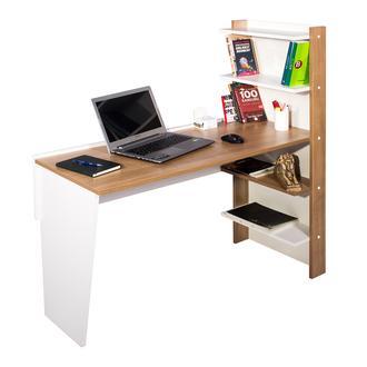 Ofisbazaar Raflı Çalışma Masası - Beyaz/Kiraz