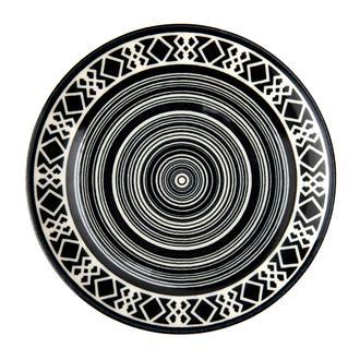 Tulu Porselen Etnik Servis Tabağı - 24 cm
