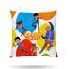 Hobby Rafadan Tayfa Kırlent - Beyaz / Renkli - 40x40 cm