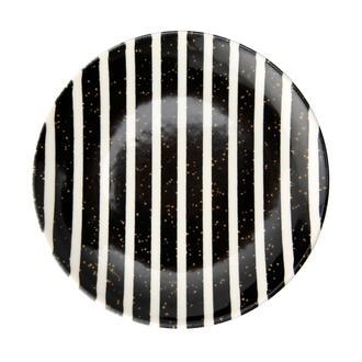 Tulu Porselen Black Line Servis Tabağı - 24 cm