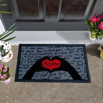 Giz Home İtalyan Format Kapı Önü Paspası İ Feel Love - 40X68 cm