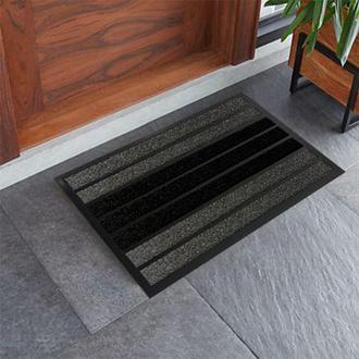 Giz Home Torino Kapı Önü Paspası Gri Siyah - 45X75 cm