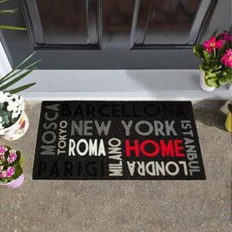 Giz Home İtalyan Kokardo Kapı Önü Paspası Şehir - 40X68 cm