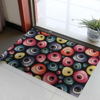 Giz Home Magic Kapı Önü Paspası Renkli Nazar Boncuğu - 40x60 cm
