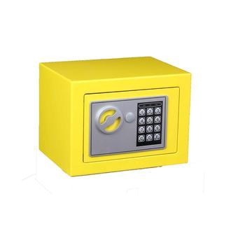 Lorin Elektronik Şifreli Anahtarlı Çelik Para Kasası-Sarı