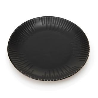 Tulu Porselen Mat Siyah Tatlı Tabağı - 19 cm