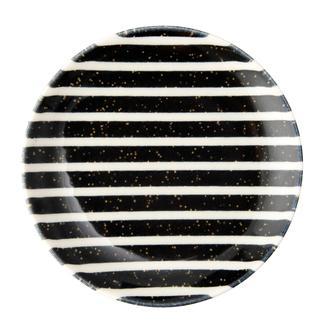 Tulu Porselen Black Line Tatlı Tabağı - 19 cm