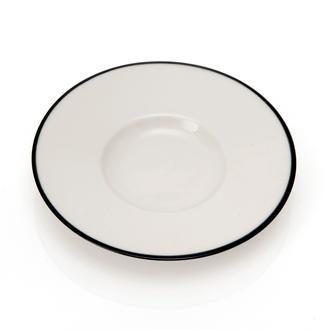 Tulu Porselen Heybeli Çay Tabağı - Siyah/13 cm