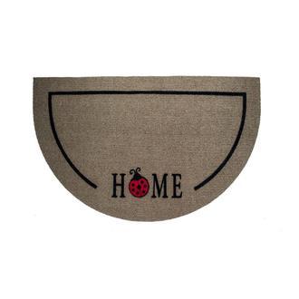 Giz Home İtalyan Luna Yarımay Kahve Uğur Böceği Home Kapı Önü Paspası  - 40X65