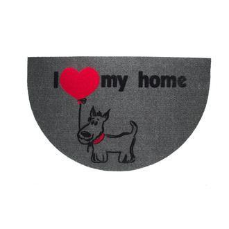 Giz Home İtalyan Luna Yarımay Gri My Home Köpek Kapı Önü Paspası - 40X65