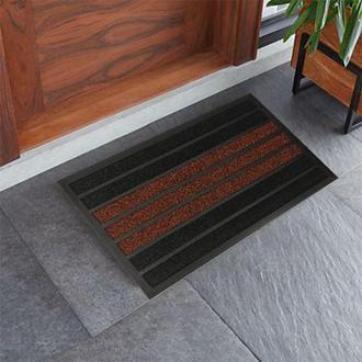 Giz Home Torino Kapı Önü Paspası Kırmızı-Siyah - 45X75