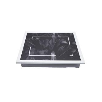 Yedi Home & Decor Black Leaves Keyif Tepsisi