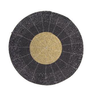 Marianna Helix Cam Boncuklu Supla - Siyah/35 cm