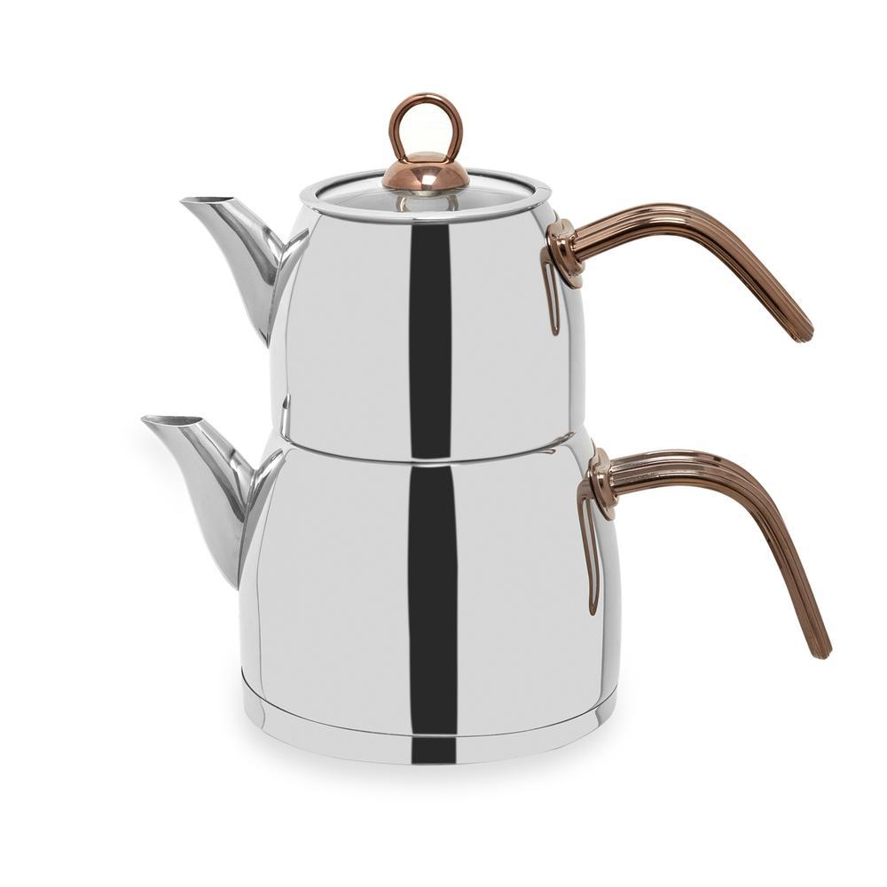 Falez Çaykolik Mini Boy Çaydanlık - Bakır