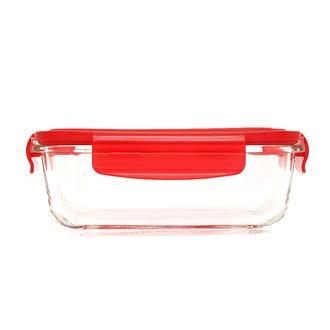 Tohana Cam Saklama Kabı - Kırmızı/600 ml