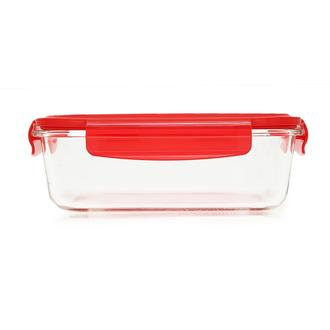 Tohana Cam Saklama Kabı - Kırmızı/1000 ml