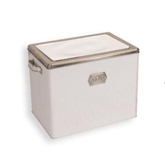 Sembol Metal Ekmek Kutusu - Beyaz/Gümüş