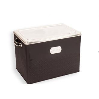 Sembol Metal Ekmek Kutusu - Siyah/Gümüş