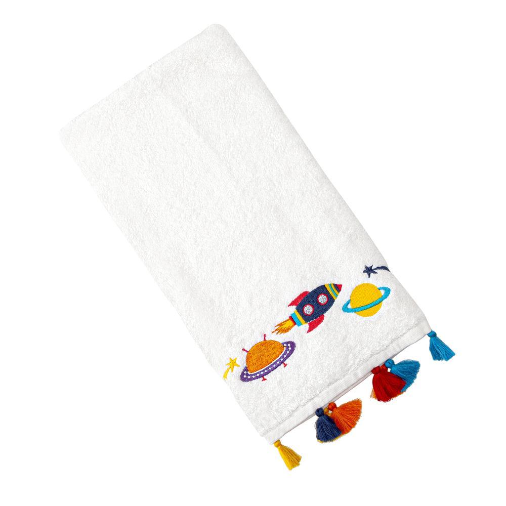 Nuvomon Space Çocuk Havlusu - Beyaz - 30x50 cm