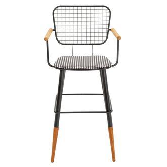 Asf Moura Kollu Bar Sandalyesi - Kazayağı