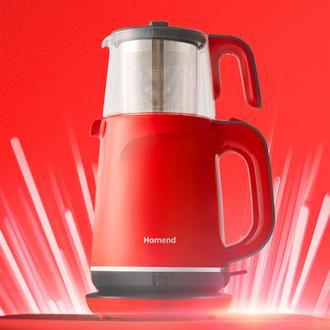 Homend Royaltea 1731H Çay Makinesi - Kırmızı