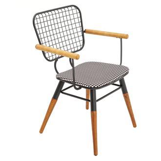 Asf Moura Kollu Sandalye - Siyah Kazayağı