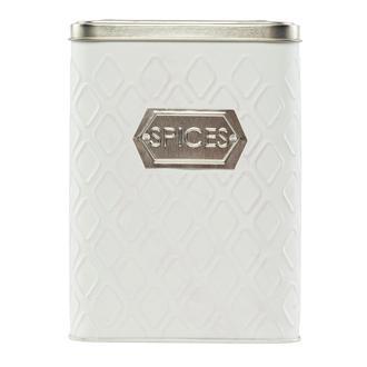 Sembol Metal Kavanoz - Beyaz/Gümüş- 1000 ml