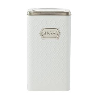 Sembol Metal Kavanoz - Beyaz/Gümüş - 1500 ml