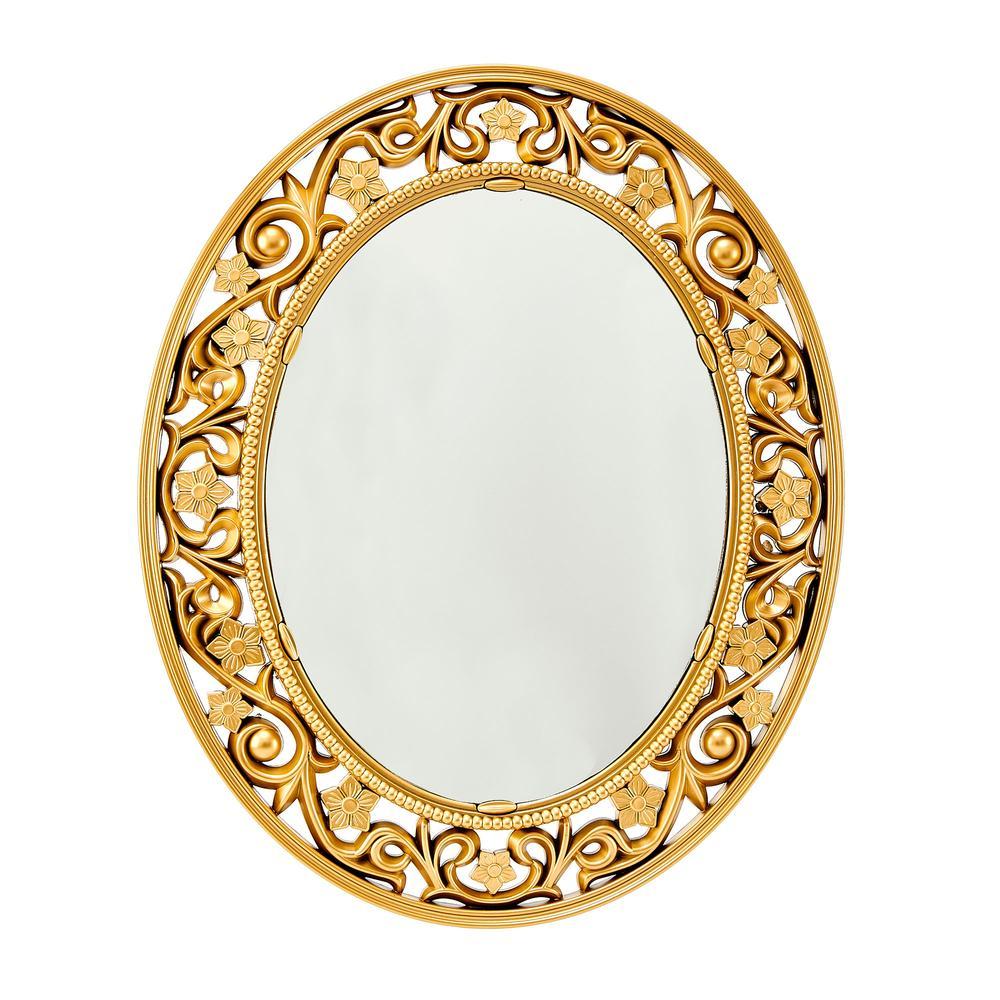 Galaxy Eskitme Oyuklu Ayna - Gold
