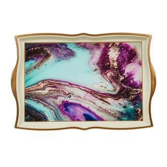 Sembol  Krem Galaxy Akrilik Tepsi- 42x31 cm
