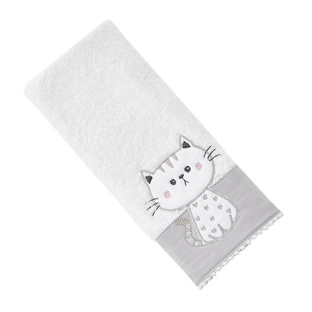 Nuvomon Pell Cute Çocuk Havlusu - Beyaz - 30x50 cm