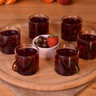 Taşev Ayame - 6 Kişilik Çay Fincan Takımı