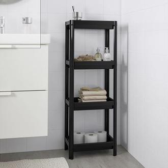 Simple Living Banyo Düzenleyici ve Rafı - Siyah