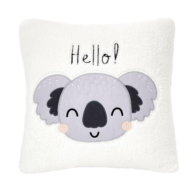 Nuvomon Hello Koala Figürlü Yastık - Beyaz - 35x35 cm