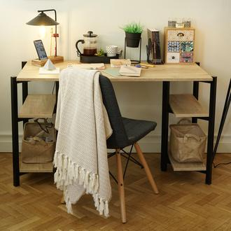 Asemo Piramit Çalışma Masası - Lefkas Meşe