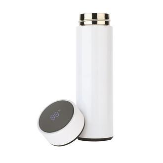 Bood Led Sıcaklık Göstergeli Akıllı Termos - Beyaz/500 ml