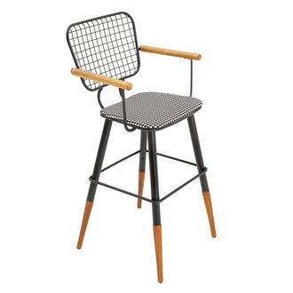 Asf Moura Kollu Bar Sandalyesi - Siyah Kazayağı