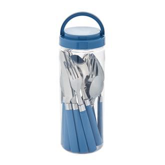 Excellent Houseware 16 Parça Çatal Kaşık Bıçak Seti - Mavi