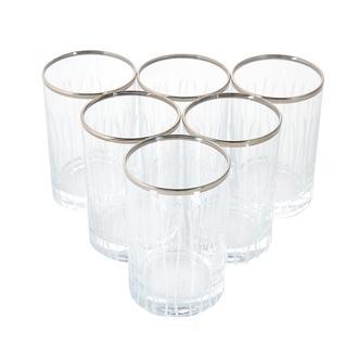 Ocl 6'lı Çizgili Kahve Yanı Su Bardağı - 125 ml