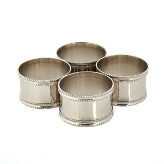 Excellent Houseware 4'lü Peçete Halkası (Asorti) - Silver