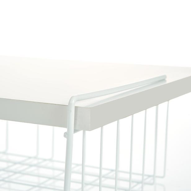 Metalife Gardırop ve Dolap İçi Organizer Sepet - Beyaz
