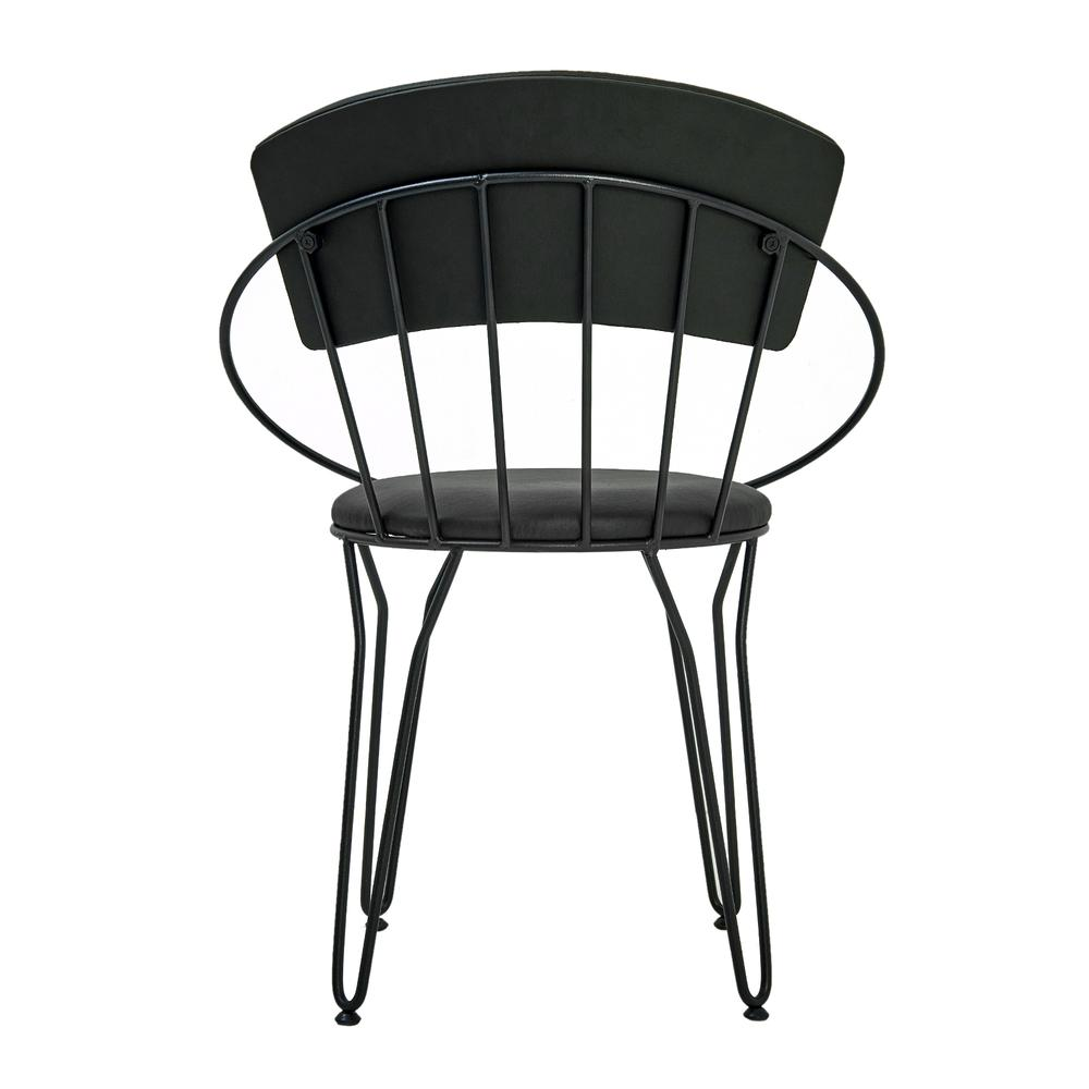 Akın Lüx Modern Metal Sandalye - Siyah