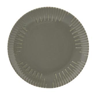 Tulu Porselen Mat Gri Servis Tabağı - 24 cm