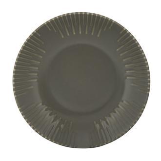 Tulu Porselen Mat Gri Çukur Tabak - 19 cm